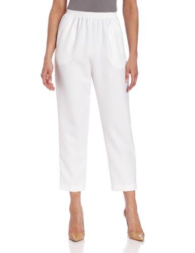 Alfred Dunner Capri Pants - Alfred Dunner Women's Short Pant,White,14