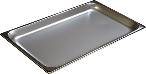 Carlisle 607001 Stainless Steel 18-8 DuraPan Light Gauge Full Size Anti-Jam Food Pan, 4.2 quart Capacity, 1'' x 12.75'' x 20.75'' (Case of 6) by Carlisle