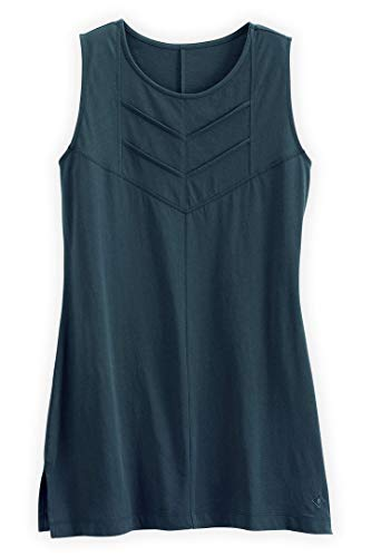 (Fair Indigo Fair Trade Organic Sleeveless Chevron Tunic (XL, Dark Ocean))