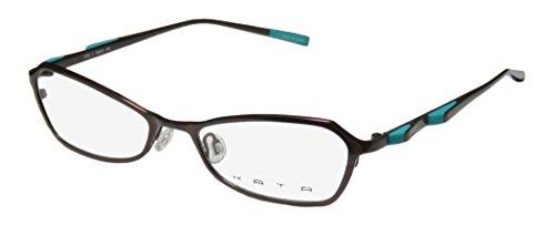 [Kata Peel 1 Womens/Ladies Optical Red Carpet Style Designer Full-rim Titanium Eyeglasses/Spectacles (50-17-135, Brown /] (Michael Jackson Black Or White Costume)