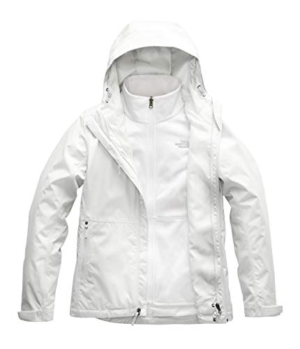 (The North Face Women's Arrowood Triclimate Jacket, Tin Grey/TNF White, Small)
