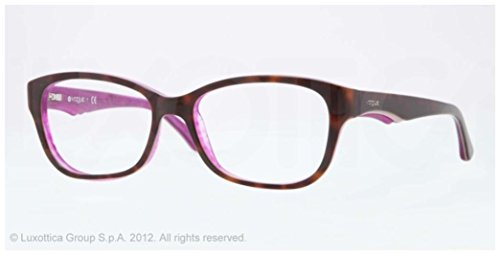 Vogue VO2814 Eyeglass Frames 2105-53 - Top Dark Havana Red Frame, Demo Lens - Vogue Prices Glasses Frames