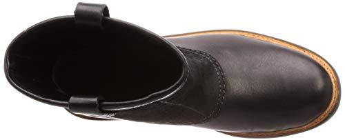 Uomo Trace Clarks Top black Lea Stivali Combi Arricciati Nero dZIqI1p