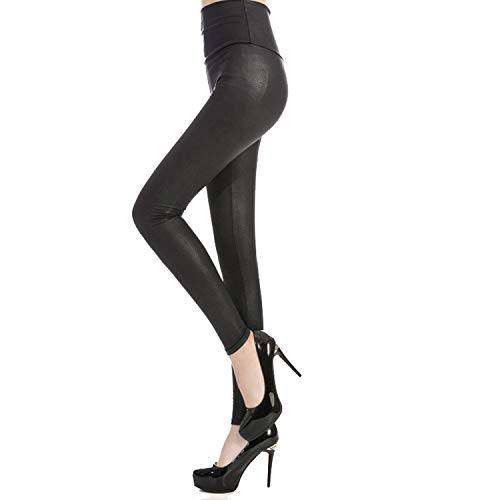Tulucky Womens Sexy Pants Girls Faux Leather High Waisted Leggings (S, Snakeskin - Faux Pants Snakeskin