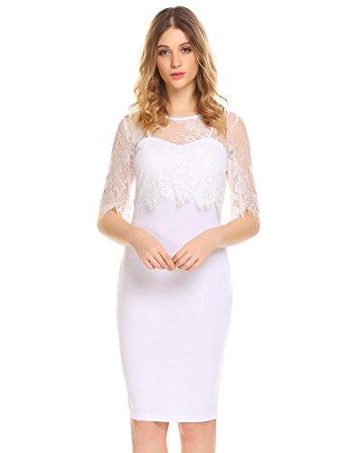 Through Strap Spaghetti Lace Dress White Dresses Bodycon Sexy Pencil Vest See Women Party Slim Pure Bulges Aq08vwx