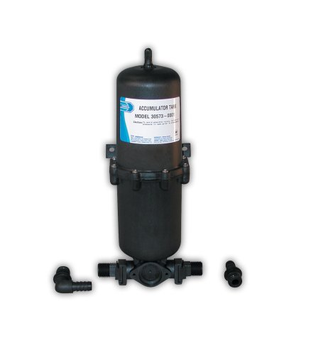 Jabsco 30573-0000 Marine Pressurized Water Accumulator Tank with Bladder (1-Liter) , Black