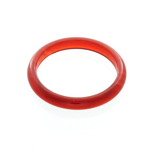 Nostrand 3mm Carnelian Gemstone Plain Band Ring (9)