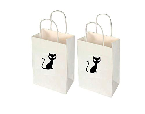 Moira Black Cat Treat Bags 12 Halloween Bags Halloween Party Bags Halloween Favor Bags Black Cat Decal Trick or Treat Bags Trunk or -