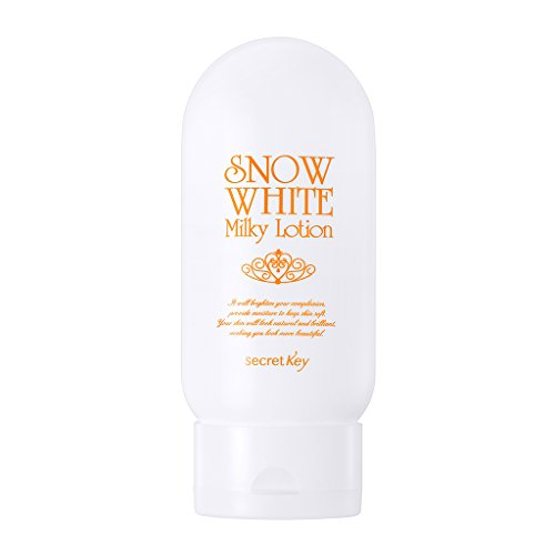 [SECRET KEY] Snow White Milky Lotion 4.06 fl.oz. (120g) - Tone up Brightening Moisturizing Lotion for Face and Body, Hyaluronic Acid & Aloe Vera & Green Tea Extract Soothe Skin (Best Skin Brightening Lotion)
