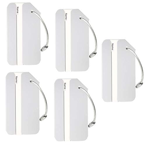 - Aluminum Luggage Tags Holders, Luggage Baggage Identifier by LouisJoeYu(Silver-5)