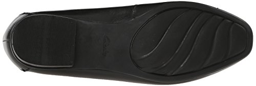 Clarks Women's Keesha Luca Slip-on Loafer, Black Leather, 7 N US Black Leather