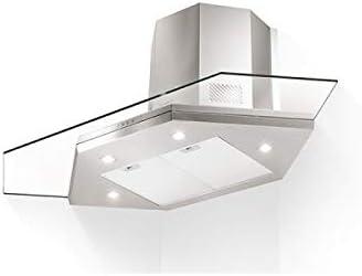 Faber – Campana de esquina PREMIO Ángulo/SP, acabado en acero inoxidable y cristal de 90 x 90 cm: Amazon.es: Grandes electrodomésticos