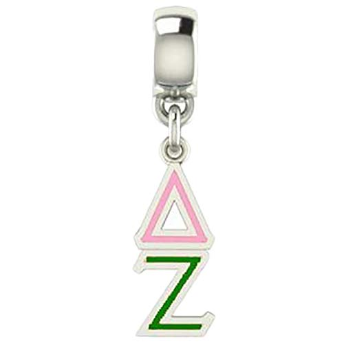 Greekgear Delta Zeta Color-Filled Stainless Lavaliere Necklace