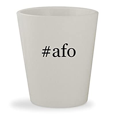 #afo - White Hashtag Ceramic 1.5oz Shot Glass