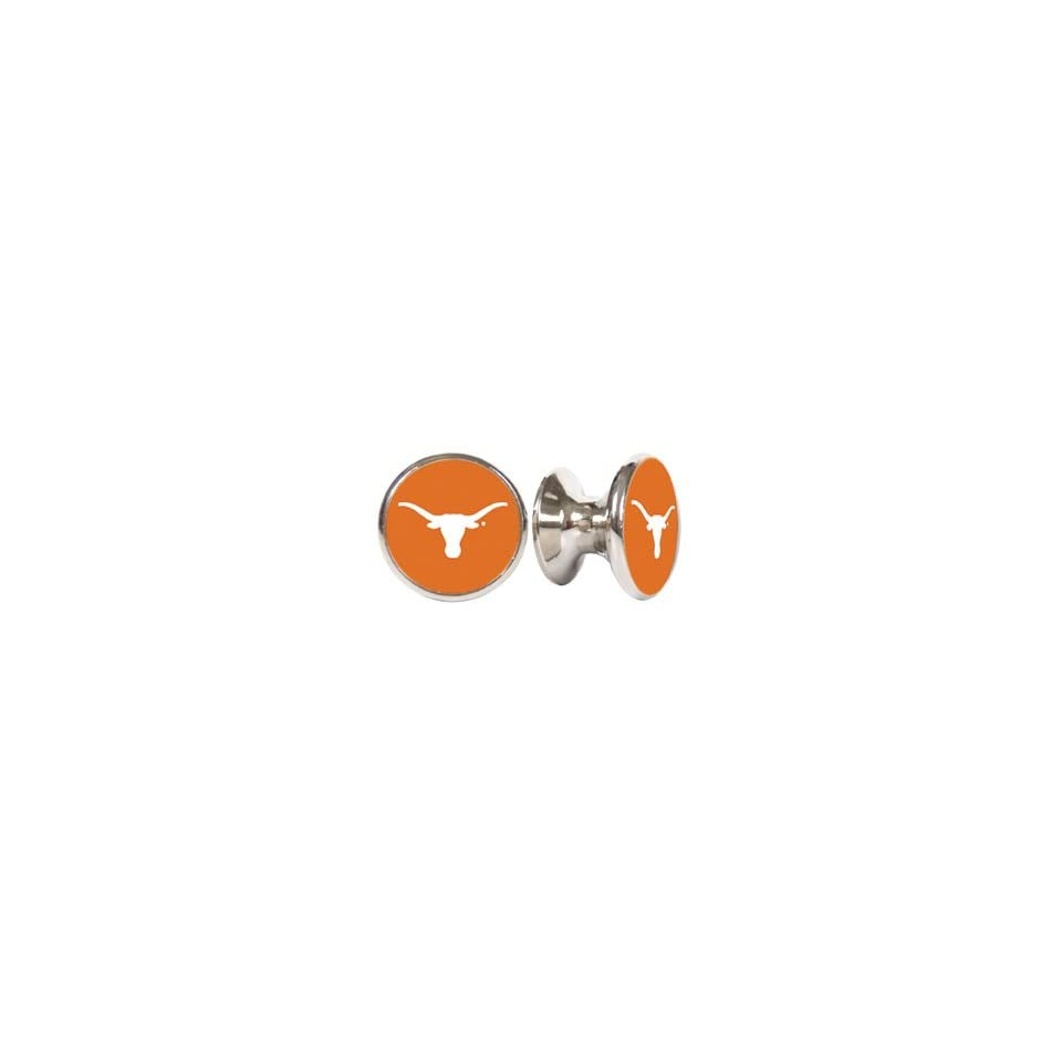 Texas Loghorns NCAA Stainless Steel Cabinet Knobs / Drawer Pulls (2 pack)