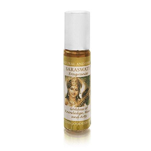 Lakshmi Roll On Perfume (Saraswati Fragrance by The Goddess Line - Goddess of Knowledge, Music and Arts 0.33 ounce Perfume Roll On)