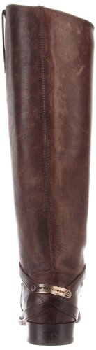 FRYE Womens Lindsay Plate Knee-High Boot Dark Brown Stone Wash Leather-76975 vCFzhyxCg8