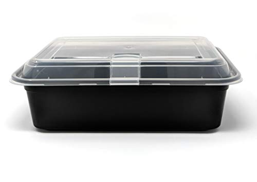 - Seacoast THE BEST NEW Bento Lunch Box Takeout Container, Vented Lid, Reusable, Commercial Quality, Microwave And Freezer Safe with Clear Lid, 1 Compartment 28 OZ Pack of 36