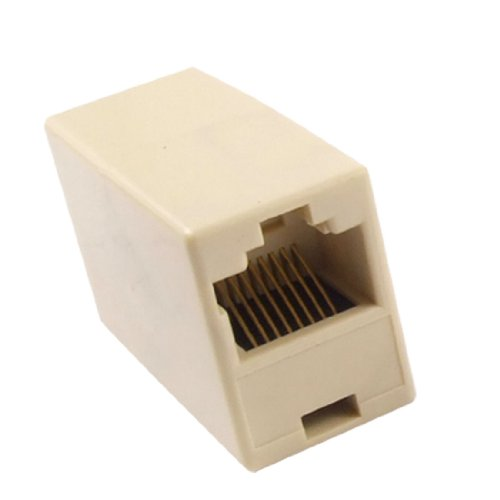 Uxcell Plastic RJ45 Double Female Telephone Adapter Conne...