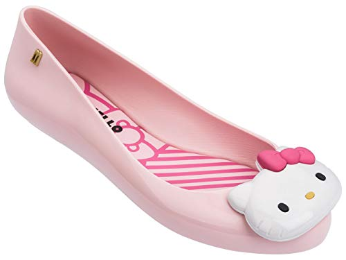Melissa Womens Space Love + Hello Kitty AD Ballet Flat, Pink, Size 10