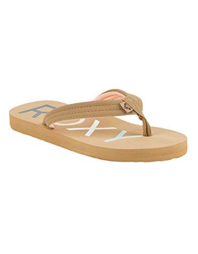 Roxy Girls' RG Vista 3 Point Sandal Flip-Flop, tan, 3 M US Little Kid ()