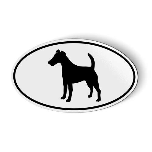 Fox Terrier Smooth Oval - Magnet for Car Fridge Locker - 3