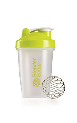 BlenderBottle Classic Shaker Bottle, Clear/Green, 20-Ounce