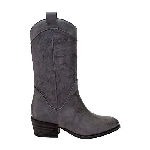 AMANDA GREGORY Leather Western Boot ()