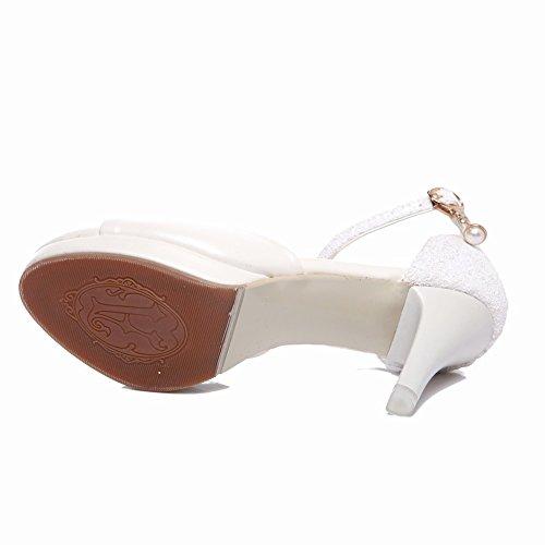 Sandalias De Tacón Alto Para Mujer Con Cordones Y Punta Abierta Sandalias De Tacón Alto Para Mujer