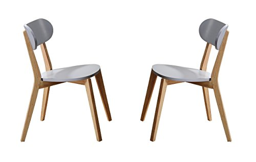 Homelegance Orpheus Stackable Wood Dining Chairs (Set of 2), Gray
