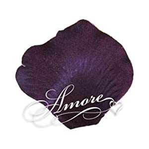 200 Wedding Silk Rose Petals Lapis-Deep Purple 90