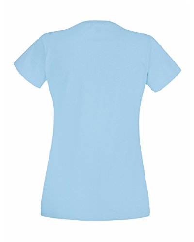 Fruit of the Loom - Camiseta - para mujer Azul Cielo