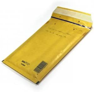 Aire – Sobres acolchados (tamaño 5, 100 unidades), color amarillo