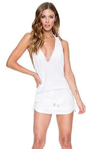 Luli Fama Cosita Buena - T Back Mini Dress-WAC - S/White