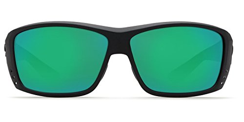Direct AT11OGMGLP Costa Del Mar Cat Cay Sunglasses Black Green Mirror 580G Lens Pro-Motion Distributing