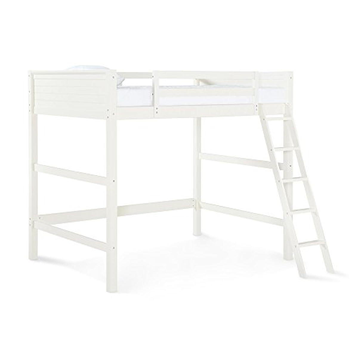 Bed Loft Full White Twin Metal Bunk Kids Size Furniture