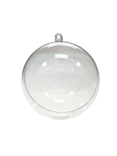 12 Clear Plastic Ornament Ball - Christmas Ornament, DIY Bath Bomb, Decorations, Crafting (80mm (3.25
