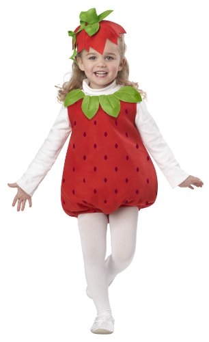 California Costumes Strawberry Girl Infant Romper, Red, 18-24 Costume]()