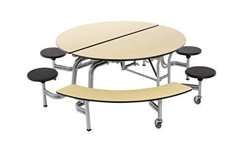 AmTab - MSBR6042 - Mobile Stool and Bench Table, Round, 60