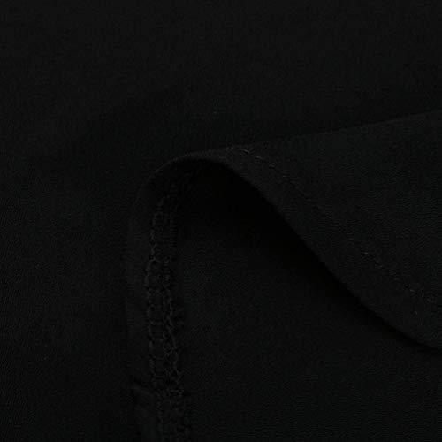 Manches Elgante Courtes Classique Shirt Blouse Fashion Chemisier Taille Fille Uni Mousseline Tops Grande Dcontract Et Manche Femme Confortable Chemise Large Schwarz Revers Blouse 660qpwSA