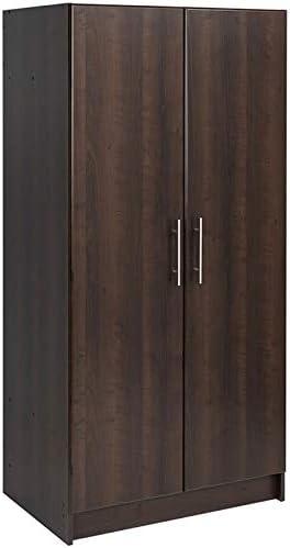 "Pemberly Row Contemporary 32"" Wardrobe Armoire in Espresso"