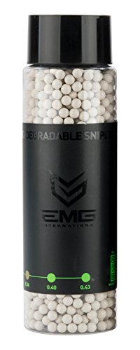 Evike - EMG International Match Grade Biodegradable 6mm Airsoft BBS - 2000 Rounds (Weight: .43g)