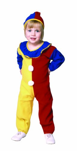 Cute Clown Costumes For Toddlers (Clown Pajama Toddler Costume (Toddler 2-4, Red/Yellow/Blue))
