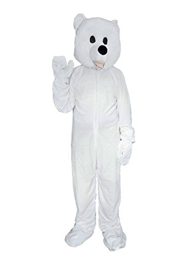 [Fantasy World Polar Bear Costume Halloween f. Adults, Size: L/ 12-14, St3] (Bear Halloween Costume Women)