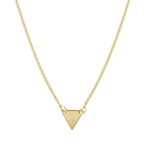 HONEYCAT Mini Triangle Pendant Necklace in Gold, Rose Gold, or Silver | Minimalist, Delicate Jewelry (Gold)