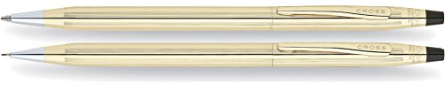 (Cross Classic Century 10KT Gold-Filled (Rolled Gold) Ballpoint Pen & 0.7mm Pencil Set)