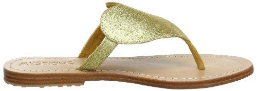 Mystique Mystique 4568 - Sandalias de cuero para mujer Dorado (Gold (Gold))