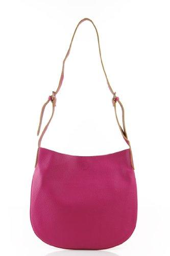 Designer Inspired Brescia Hobo/Handbag - Fuschia ()