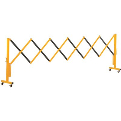 Vestil Expand-A-Gate with Casters - Steel, 11.5ft., Expanded Width, Model# EXGATE-30-C