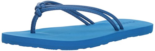 Volcom Womens Forever Solid Strappy Flip Flop Sandal